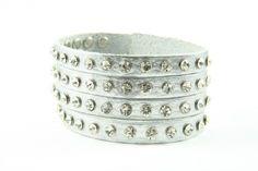 Bratara din piele Fashion silver   Wo-Men.ro Bracelets, Silver, Jewelry, Women, Fashion, Moda, Jewlery, Jewerly, Fashion Styles
