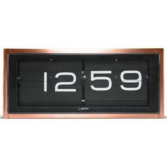 LEFF amsterdam Brick Wall/Desk Clock | Copper/Black