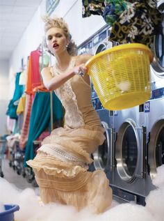 Apparently I've been doing my laundry all wrong. I've been doing it in my pjs, the nerve.