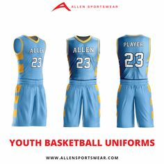 119ffa475 Get the confidence to tear up the court with custom Youth Basketball  Uniforms from Allen Sportswear