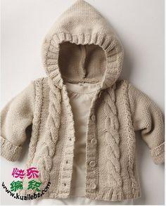 男女都可穿的休闲连帽外套-详细教程在2楼、儿童编织服饰天地,手工儿童服饰教程、快乐编织论坛