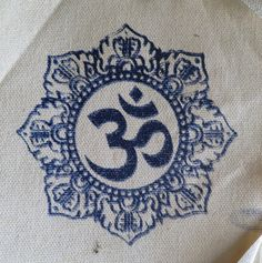 Om / Namaste Hand screen printed patches by JACarvajal on Etsy