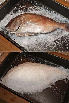 modi diversi x cuocere il Pesce: cartoccio, in crosta di sale, crosta di meringa, al vapore ...