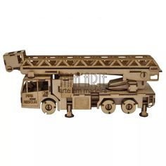Quebra Cabeça 3d Caminhão De Bombeiro. . Miniatura Em Mdf - R$ 77,00 no MercadoLivre