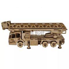 Quebra Cabeça 3d Caminhão De Bombeiro. . Miniatura Em Mdf - R$ 77,00 no…