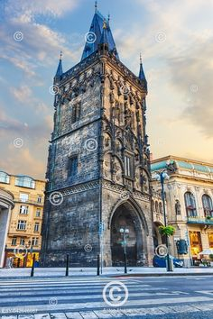 The Powder Gate in the Old Town of Prague, Czech Republic