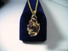 Joan Rivers GT Vine Purple Fuschia Pink Egg Drop Necklace Chain Jewelry #JoanRivers #DropDangle