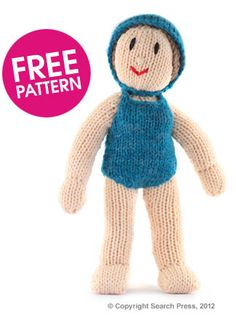 Knitted Swimmer pattern by Deramores