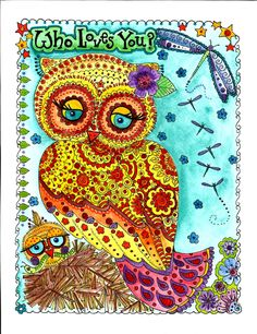 Instant Download Owl Art Print Love Owls by ChubbyMermaid on Etsy