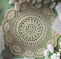 Tecendo Artes em Crochet: Três Toalhinhas Lindas com Gráficos! Yuvarlak örtü