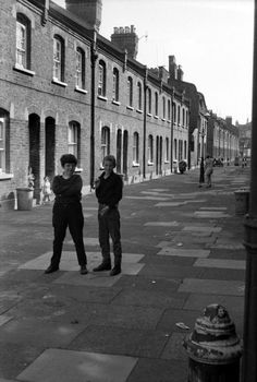 This is the East End in the afternoon, as photographed by newspaper artist Tony Hall in the nineteen sixties.