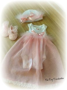 Baby Girl Dress / Newborn Gift/ Take Home by TheTinyTrendsetter