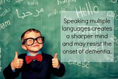 Languages. Thumbs up :) Learn Italian, French, Arabic, Greek, latin