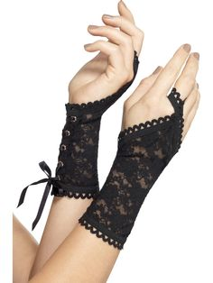 Ladies Fancy Dress Lace Glovettes Burlesque Gloves Black by Smiffys 1980s Fancy Dress, Fancy Dress Ball, Ladies Fancy Dress, Parisienne Chic, Black Lace Gloves, Fancy Dress Accessories, Punk Outfits, Anime Outfits, Desi Clothes