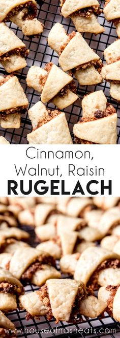 Cinnamon Walnut Raisin Rugelach This recipe makes the most delicious buttery, flaky Rugelach filled with cinnamon and walnuts! Rugelach is such a unique, fun treat to make and share during the holidays and is perfect for a cookie exchange! Brownie Desserts, Oreo Dessert, Mini Desserts, Single Serve Desserts, Desserts For A Crowd, Winter Desserts, Party Desserts, Köstliche Desserts, Delicious Desserts