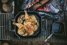 One of the best ways to get grilling with our Twin Spring Cast Iron Grill Pan is to spatchcock a whole chicken and grill over the coals. Spatchcock Chicken, Tandoori Chicken, Cast Iron Grill Pan, Cast Iron Recipes, Cast Iron Cookware, Stuffed Whole Chicken, Grilling, Twin, Bbq