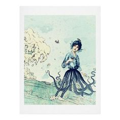 DENY Designs Sea Fairy by Belle13 Graphic Art Size: