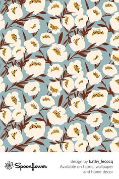 Customize your own home decor, #wallpaper and #fabric at Spoonflower. Shop your favorite indie designs on #fabric, #wallpaper and home decor products on Spoonflower, all printed with #eco-friendly inks and handmade in the United States. #patterndesign #textildesign #pattern #digitalprinting #homedecor #flowers Fabric Squares, Fabric Wallpaper, Floral Designs, All Print, Watercolor Flowers, Creative Business, Custom Fabric, Spoonflower, Diy Wedding