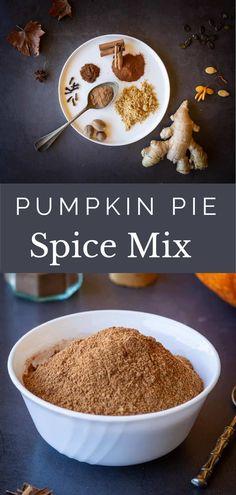 Homemade Pumpkin Pie Spice Recipe, Homemade Spice Blends, Best Pumpkin Pie, Pumpkin Recipes, Pumpkin Spice, Spice Mixes, Healthy Vegan Desserts, Fun Desserts, Vegan Recipes