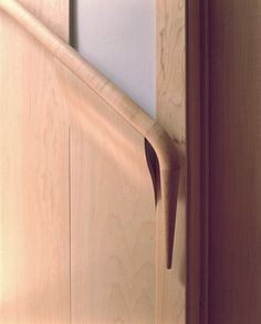 NADAAA's Back Bay Residence: Bent ply handrail detail.  It doesn't get much better than this.