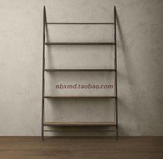 Rustico in ferro battuto scaffale libreria scaffale di legno porta tv cornice decorativa semplice ed elegante mobile tv sfondo