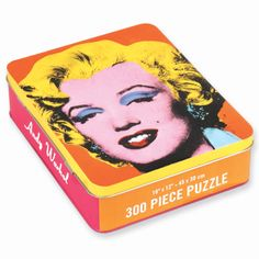 Andy Warhol Marilyn Monroe 300 Piece Puzzle from Galison. #Art #AndyWarhol #MarilynMonroe #Galsion #EvansAndHall