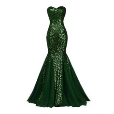 Raniwish Sparkly Evening Prom Ball Gown Sequins Mermaid Long Formal... ($60) ❤ liked on Polyvore featuring dresses, gowns, formal evening dresses, long white dress, white cocktail dress, sequin evening gowns and evening gowns