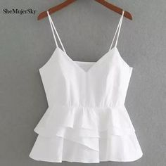 Shemujersky blanco cosecha Top mujeres 2017 verano sin mangas Halter Tops mujer sexy cropped