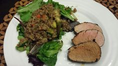 People Food: Bourbon and Apricot Pork Tenderloin and Quinoa Salad with Spring Mix