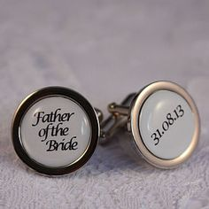 Father Of The Bride Personalised Cufflinks - wedding thank you gifts