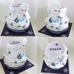 Frozen cake design La reine des neiges