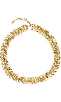 Aurélie Bidermann Gold Lunada Bay Leaf Collar