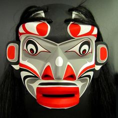 Kwakiutl Speaker Mask by Trevor Hunt, Kwakiutl or Kwakwaka´wakw More At FOSTERGINGER @ Pinterest