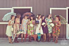 vintage dress & umbrellas loves