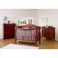 DaVinci Parker 3 Piece Convertible Crib Nursery Set w/ Toddler Rails in Cherry - K5101C-K5152C-K5155C-3PcSet - Lowest price online on all DaVinci Parker 3 Piece Convertible Crib Nursery Set w/ Toddler Rails in Cherry - K5101C-K5152C-K5155C-3PcSet