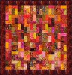"""Rectangles - 5"""" Charm Quilt Pattern"""