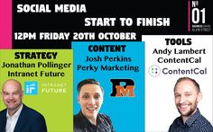 Announcing a new workshop for 2018 - Social Media Essentials with Jonathan Pollinger (Gloucester) - https://bookwhen.com/intranetfuture/e/ev-scpt-20180123093000?utm_content=buffer2d7a7&utm_medium=social&utm_source=pinterest.com&utm_campaign=buffer