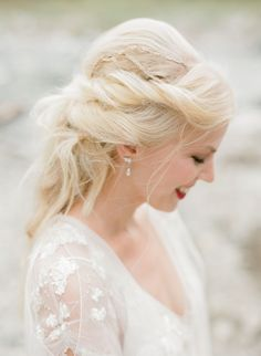 Colorful European Castle Wedding Ethereal twisted bridal hairstyle with mini braid details: www. Wedding Dress Shopping, Bridal Wedding Dresses, Bridal Style, European Destination Weddings, European Wedding, Fancy Hairstyles, Bride Hairstyles, Bride Hair Accessories, Dallas Wedding Photographers