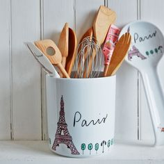 Eiffel Tower Utensil Crock | Sur La Table