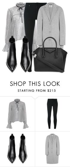 """Untitled #3612"" by beatrizvilar ❤ liked on Polyvore featuring Saloni, Alexander Wang, Acne Studios and Givenchy"