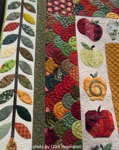 """border from """"apple scrapple"""" quilt by rhonda borders, on the quilt inspiration blog"""