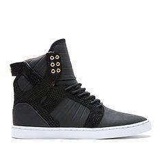 SUPRA FALCON | BLACK / NEON ORANGE - WHITE | Official SUPRA Footwear Site