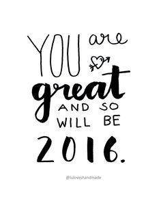 Luloveshandmade: Free Handlettering Print for Download: Happy New Year 2016