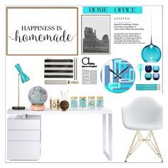 """""""Work Hard: Home Office"""" by samra-bv ❤ liked on Polyvore featuring interior, interiors, interior design, home, home decor, interior decorating, Bellini, Bellerby & Co, Kate Spade and Argento SC"""