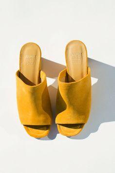 Maryan Nassir Zadeh - Mustard Suede Penelope Mule   BONA DRAG