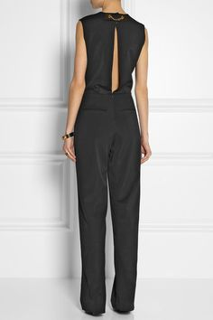 absolutely amazing!! SOPHIE HULME Chain-detailed cady jumpsuit
