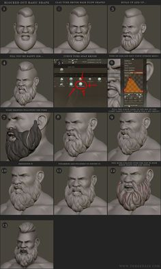 hair zbrush tutorial sculpting ~ hair zbrush tutorial & hair zbrush tutorial sculpting & zbrush stylized hair tutorial & z brush hair zbrush tutorial & zbrush hair tutorials & zbrush long hair tutorial Zbrush Tutorial, 3d Tutorial, Zbrush Character, Character Modeling, Game Character, Sculpting Tutorials, Art Tutorials, Art Challenge, Beard Sculpting