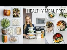 The best meal prep ideas are easy! Here's 9 simple ingredients you can meal prep and combine for healthy recipes that take less than 5 minutes to make. Easy High Protein Meals, High Protein Vegan Recipes, Easy Meals, Healthy Recipes, Full Meals, Delicious Recipes, Best Meal Prep, Meal Prep For The Week, Healthy Meal Prep