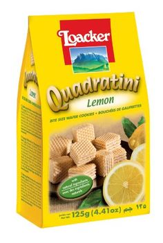 Loacker lemon quadratini from Italy - sweet but not too, with a tart lemon flavor and NO TRANSFATS!  My new favorite store-bought cookie. #keeper