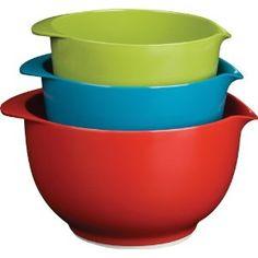 #6: Trudeau Melamine Mixing Bowls, Set of 3